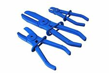 3pc Flexible Hands Free Brake Hose Pipe Clamp Plier Set Flexi Hose Radiator 6-30