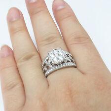 NYJEWEL 14k White Gold Brand New 1.5ct Diamond Flower Wedding Ring