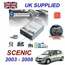 SCENIC MP3 SD USB CD AUX Input Audio Adapter Digital CD Changer Module 8 pin