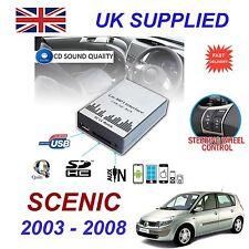 SCENIC MP3 SD USB CD AUX Entrée adaptateur audio numérique changeur CD module 8 broches