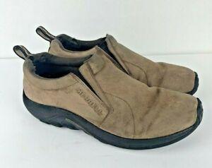 Merrell Jungle Moc Casual Slip On Shoes Men's Size 10 Dark Earth Brown J65685