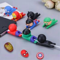 Cute Animal Phone Charger Protector Cord Ruber Animal Cable USB Wire Cover new
