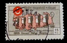 1955 Turkey Stamp National Census Used