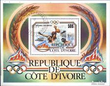 The Ivory Coast block25 (complete issue) used 1983 Olympics Sum