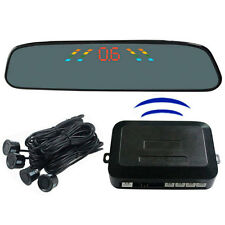 LED Display Wireless Car Reverse Backup View Radar With 4 Black Parking Sensors