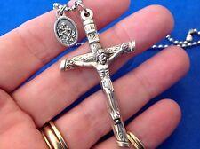 Auto Crucifix St CHRISTOPHER Saint Medal Car Truck Rear View Mirror Color Hearts
