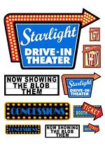 1:25 G scale model drive in movie theater signs