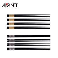 New AVANTI Alloy Traditional 24cm Reusable Chopsticks Set of 4 Pairs Gold Silver