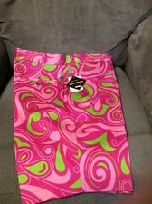 LOUDMOUTH GOLF SHORTS MEN SIZE 34 COTTON CANDY - S NWT