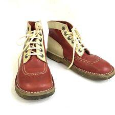 Kickers Scarpe Donna Panna E Rosse Numero 39 Vintage Punk Polacchine Desert Boot