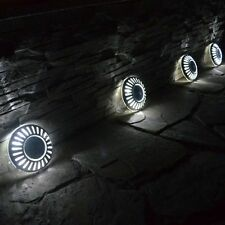 4x Solar Power LED Stainless Steel UFO Deck Decking Lights Garden Lawn Lighting