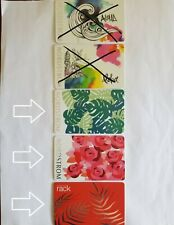 New Exclusive Nordstrom / Rack Hawaii Tropical Leaves Themed & Roses Gift Cards
