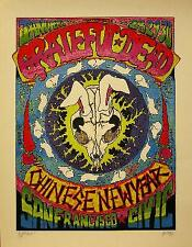GRATEFUL DEAD CHINESE NEW YEAR SIGNED POSTER VEGETABLE ERIKA