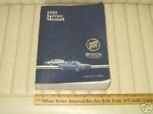 1993 Buick CENTURY GM Factory Service Shop Manual