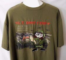 Tasmanian Devil Lt Boot Camp Shirt Vtg Looney Tunes Military Army Marines XL