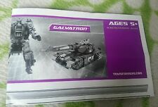 TRANSFORMERS UNIVERSE GALVATRON INSTRUCTION BOOKLET ONLY