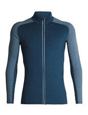 Icebreaker Quantum Hooded Jacket (M) Prussian Blue / Granite Blue