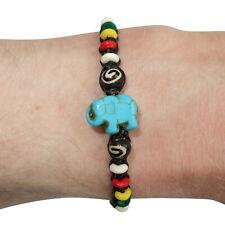 Elephant Bracelet Rasta Beads Wristband Bangle Mens Ladies Boys Girls Jewellery