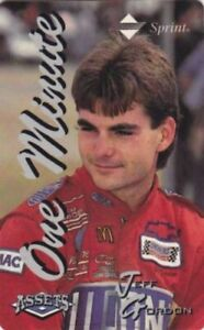 1995 Classic Assets JEFF GORDON One Minute Sprint Phone Card