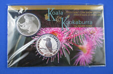 2009 Koala and Kookaburra 1 oz silver coins. Perth Mint Show - ANDA Brisbane