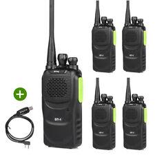 5*Baofeng/Pofung GT-1 UHF 400-470MHz 5W FM Radio Talkie Walkie Vert+USB Câble CD
