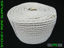 12MM 3 STRAND COTTON ROPE SOLD PER METRE