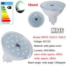 Efficacité lumineuse élevée 10x des ampoules MR16 LED 5W=50W Blanc Froid DC12V