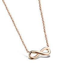 Infinity Symbol Rose Gold GP Surgical Stainless Steel Pendants Necklace Gift