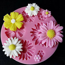 3D Flower Fondant Cake DIY Mold Moulds Choclate Silicone Candy Decor New