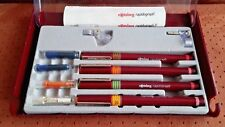 rOtring rapidograh F DRAFTING INDIA INK PEN SET Technical Drawing Lettering Pen