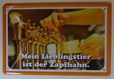 Beer -BAR- Mein Pet Is The Tap - Tin Sign 30 x 20 cm (BS623)