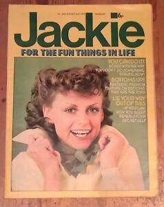 Jackie Magazine for Girls No 604 Aug 2nd 1975 Vintage - Gary Glitter + Kenny