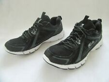 FILA Casual Leather And Mesh Trainers In Black Size UK 6