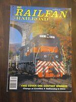 Railfan & Railroad December 1990 Railfanning in China