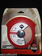 Rubi CPC200 mm - Quality Porcelain Cutting Tile Wet Saw Blade Rubi Ref 30956