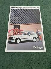 YUGO Zastava UK BROCHURE April 1987 45 55 55 LS GLS + 311 511 513 GL 311 VAN