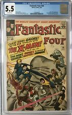 FANTASTIC FOUR #28 - CGC FN- (5.5) EARLY X-MEN APPEARANCE (CENTS) OW PAGES