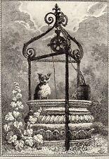 EAU FORTE / Fables de la Fontaine 1883 / LE LOUP ET LE RENARD