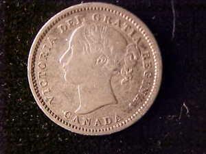 VICTORIA 10 CENTS 1870 NARROW