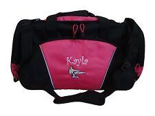 Duffel Bag Personalized Karate Girl Martial Arts Kung Fu Tae Kwon Do Asian Black