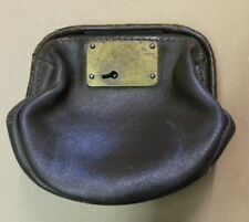 Vintage old Leather Barclays Bank Night Safe bag / purse wallet - WITHOUT KEY