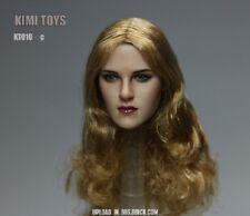Kimi Toys 1/6 Scale European Beauty Girl Head Sclupt W Long Yellow Hair Kt010-C