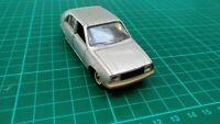 Vintage Solido 1:43 Renault 14 no. 43 Silver Retro French Diecast Model Car Toy