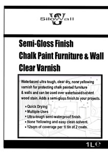 Clear Matt Satin Varnish Lacquer for Chalk Paint Furniture Wall Protection 1L