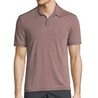 John Varvatos Star USA Men's Short Sleeve Peace Sign Polo Shirt Burnout Oxblood