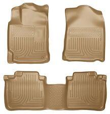Husky Liners WeatherBeater Floor Mats- 3pc- 98963 - Lexus ES350/300h 13-17 - Tan