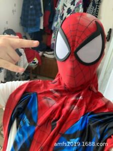 Ultimate Spider-Man Cosplay Costume Spiderman Jumpsuit For Adult Kids Halloween