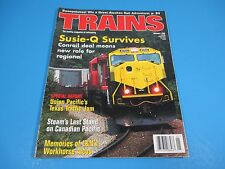Trains, The Magazine of Railroading January 1998 Susie-Q Survives, Conrail Deal