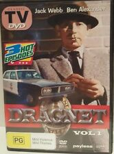 DVD DRAGNET VOL 1 Jack Webb CLASSIC TV 3x EPISODES DRAMA CRIME