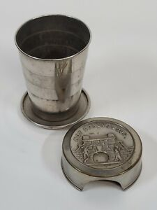 Antique 1800s Hot Springs Collapsible Folding Cup